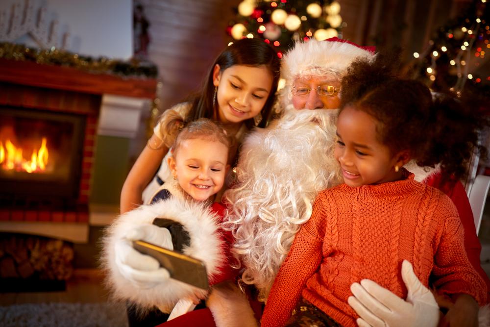Father Christmas and kids