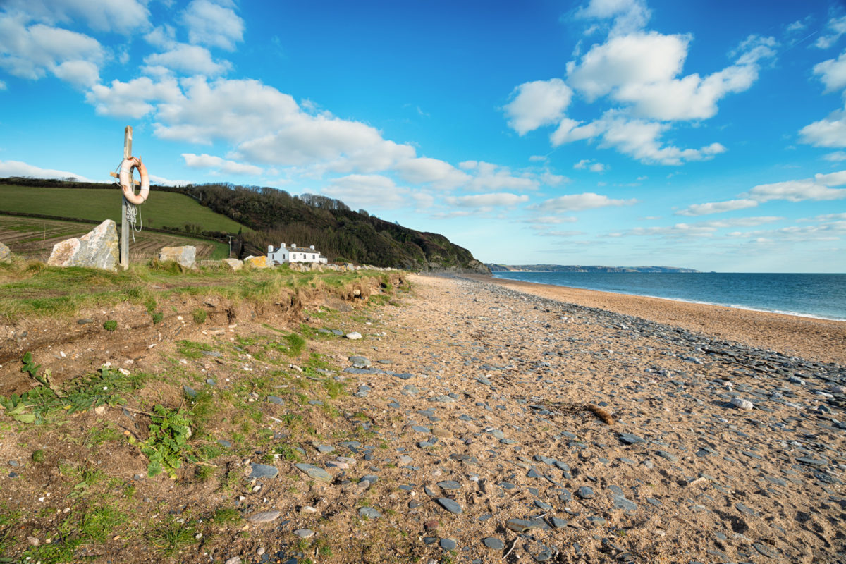 Beesands beach in the South Hams, Devon
