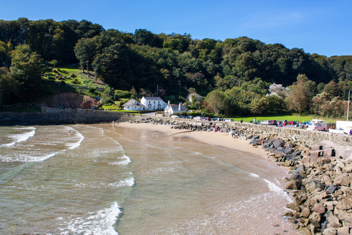 North Sands beach at Salcombe in the South Hams district of Devon South Devon England UK Europe