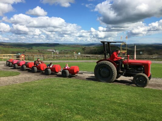 Pennywell Farm Red Rocket tractor ride