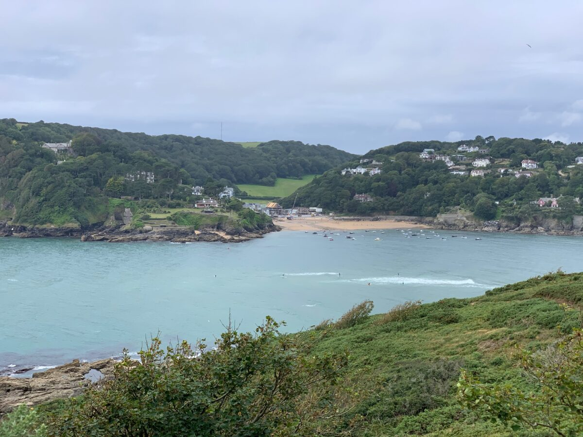 View from South West Coast Path to Salcombe South Sands
