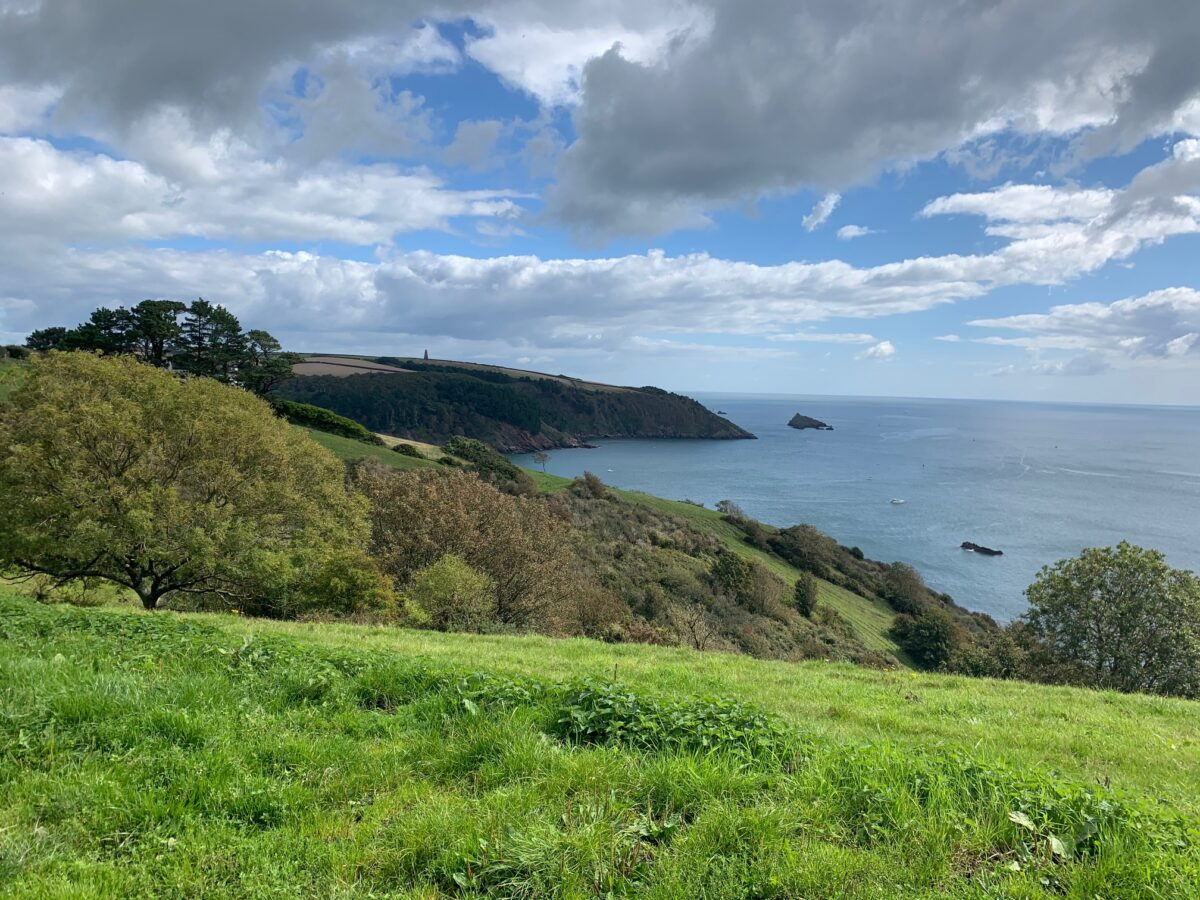 View from South West Coast Path at Little Dartmouth