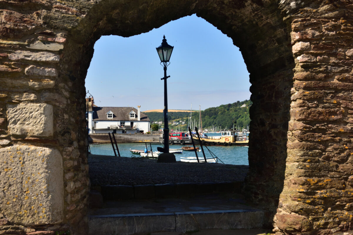 View through Bayards Fort - a free place to visit in Dartmouth