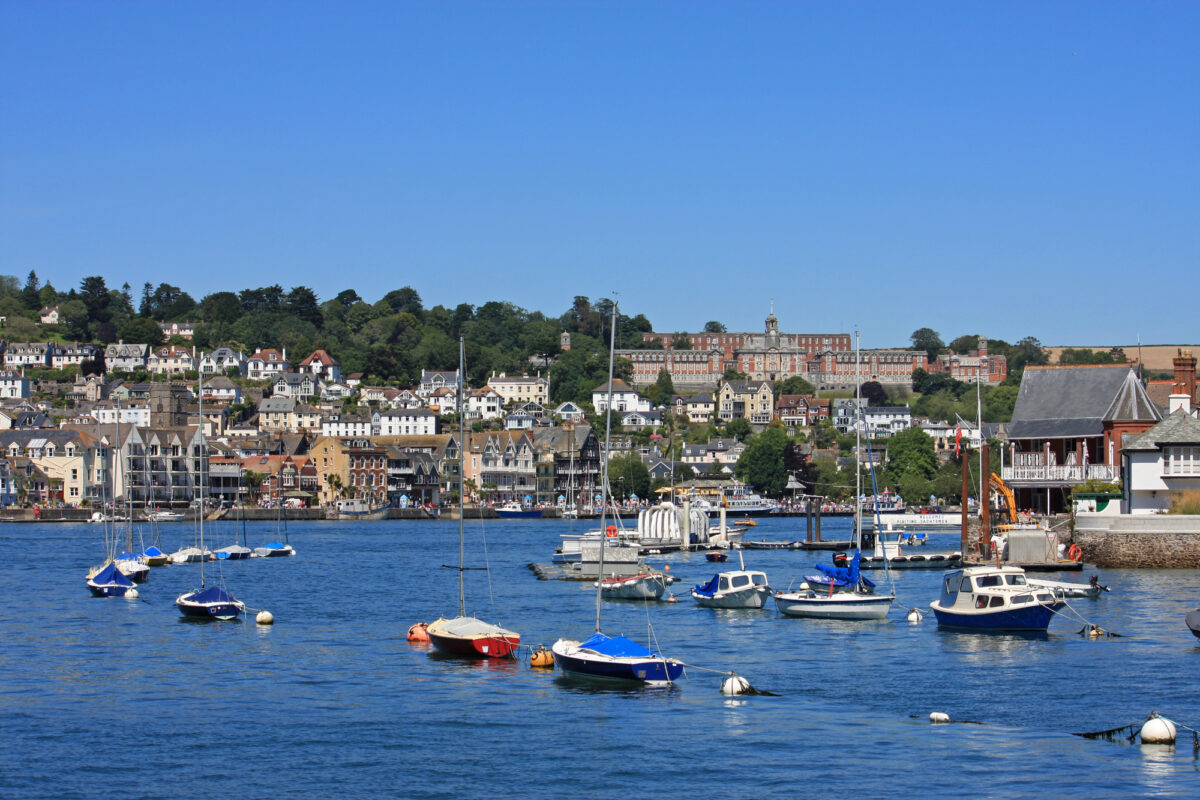 View of Dartmouth from River Dart