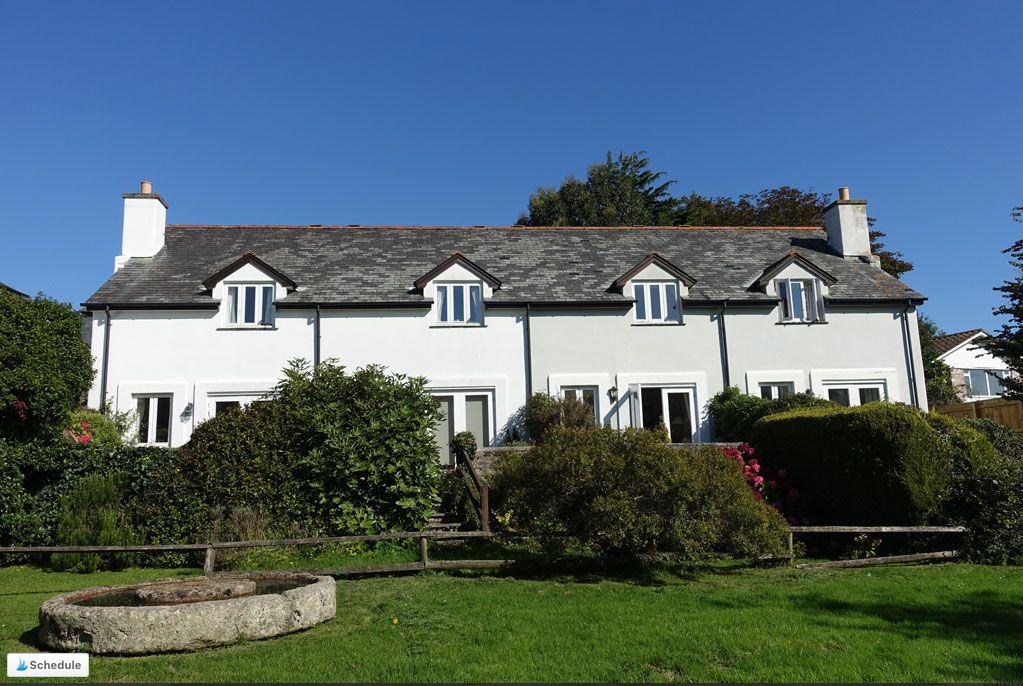 Row of holiday cottages in Devon