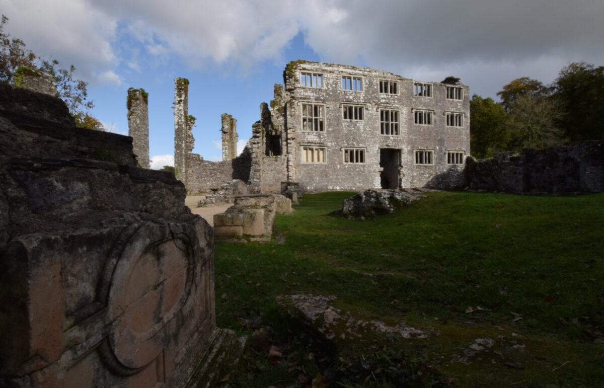Ruins of Berry Pomperoy Castle near Totnes