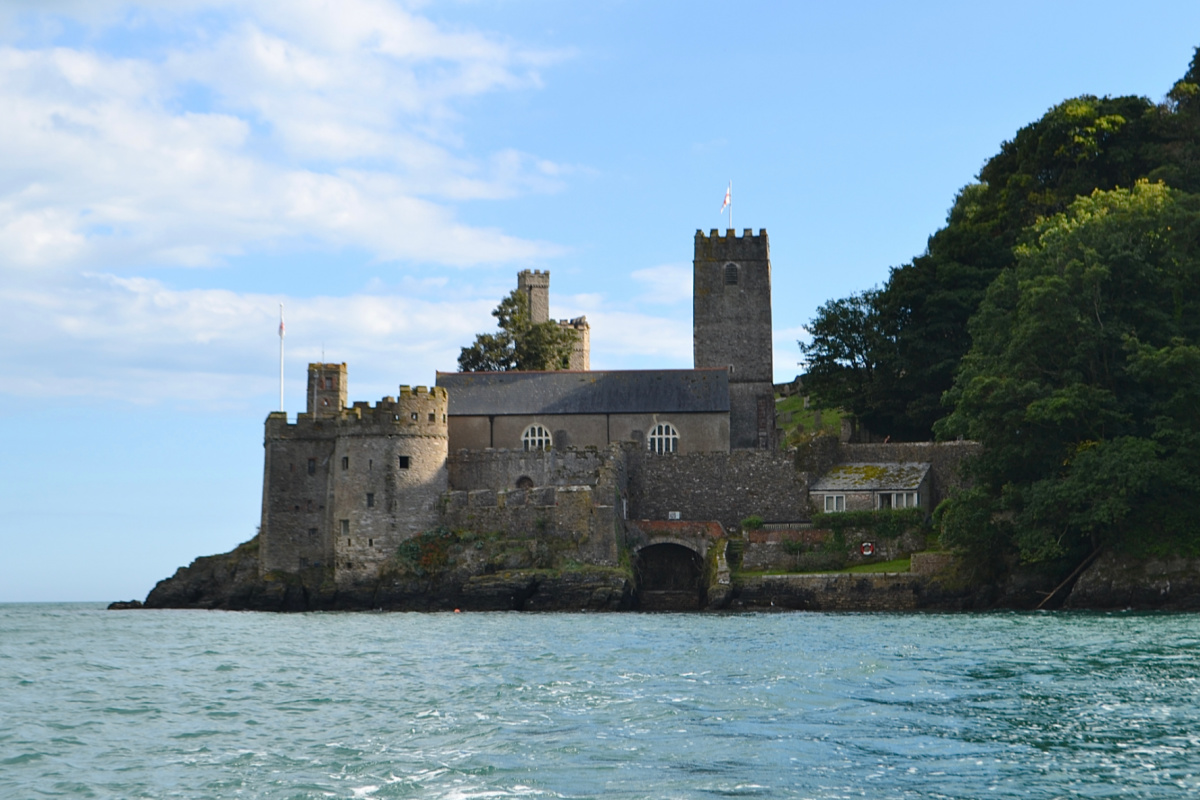 View of Dartmouth Castle from the River Dart in Devon