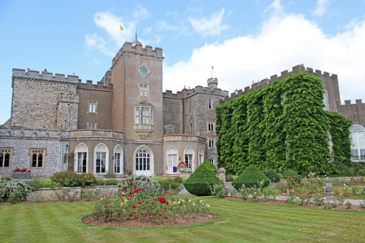 Powderham Castle and gardens in Devon